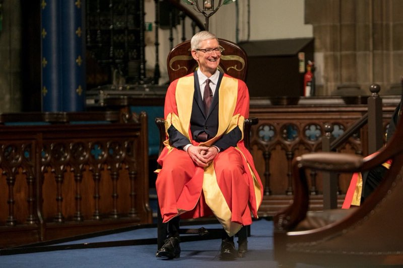 Tim Cook Glasgow