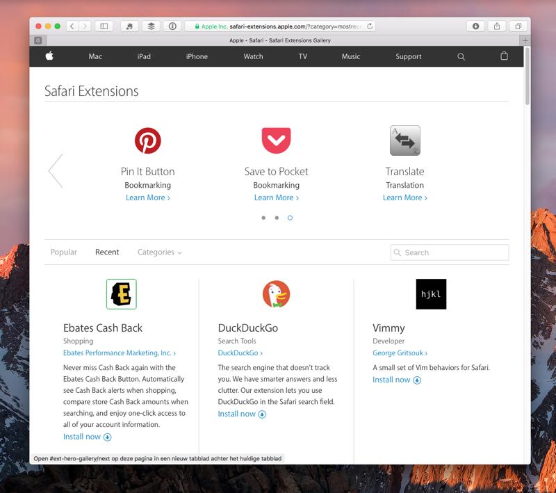 Safari-extensies