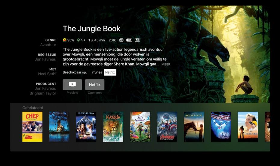 Netflix starten via Siri op de Apple TV.