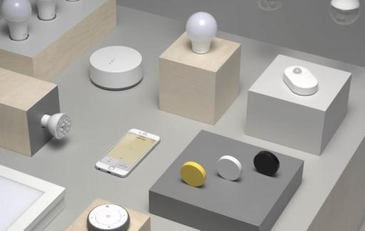 IKEA slimme verlichting TRÅDFRI, collectie uitgestald