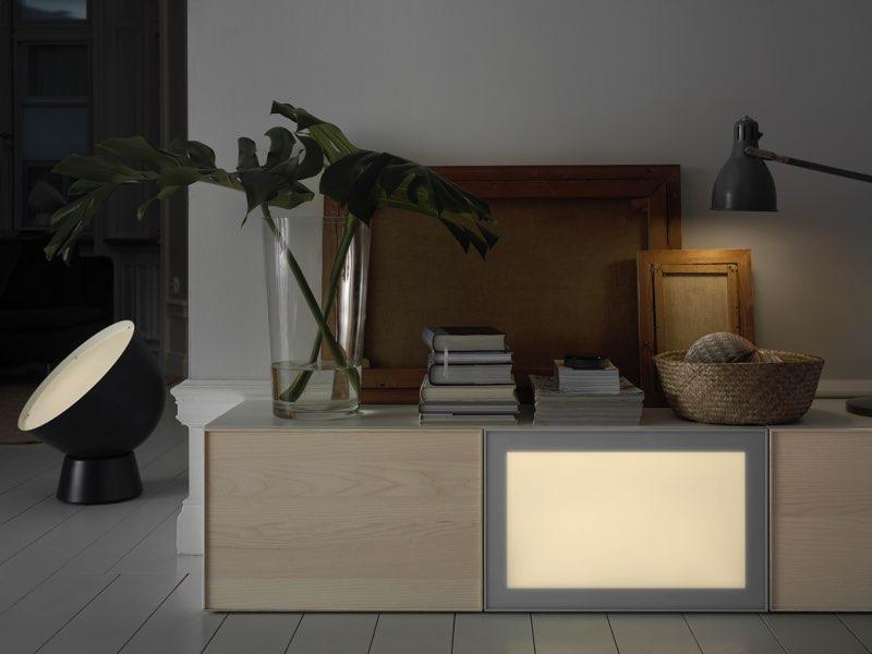 IKEA slimme verlichting TRÅDFRI, lichtpanelen in kamer