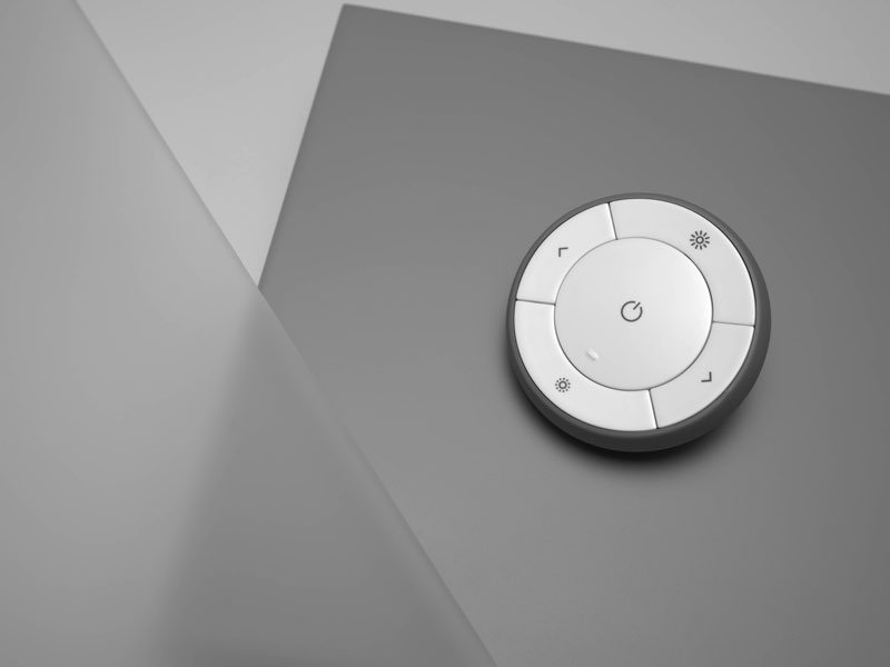 IKEA slimme verlichting TRÅDFRI, afstandsbediening op tafel