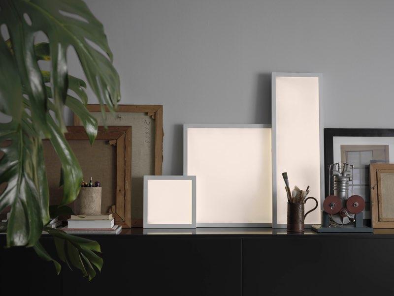 IKEA slimme verlichting TRÅDFRI, lichtpanelen in 3 formaten