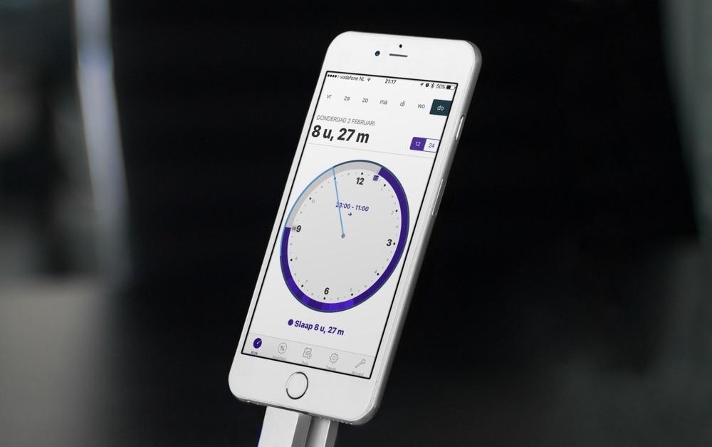 AutoSleep voor de iPhone met resultaten.