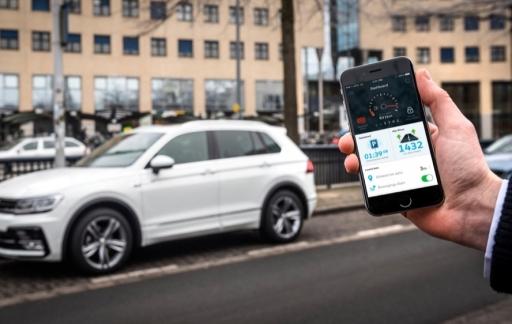 Volkswagen parkeren met Parkmobile-app.
