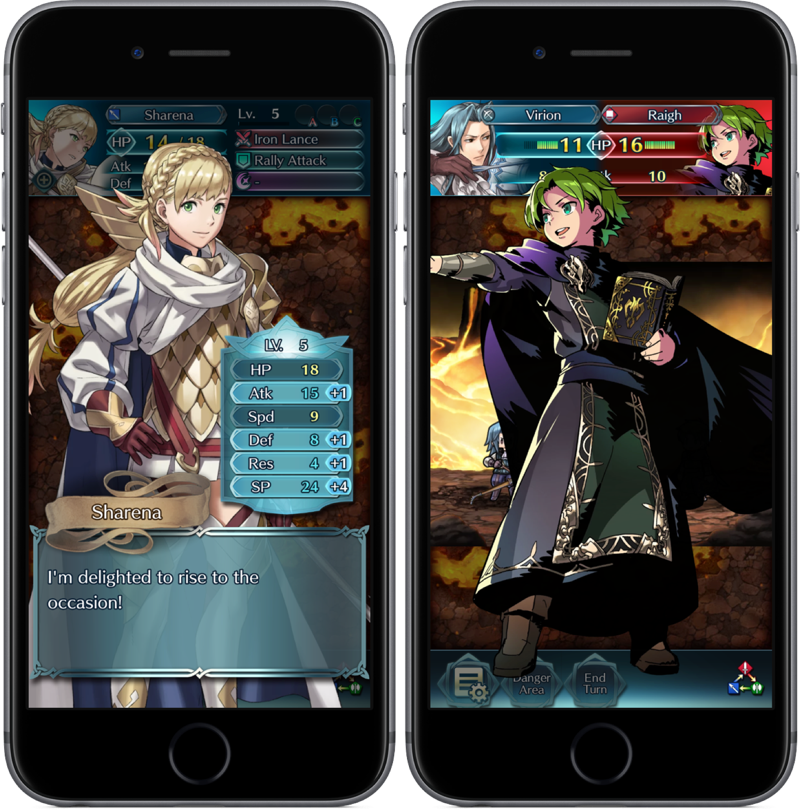 Fire Emblem Heroes met personages.