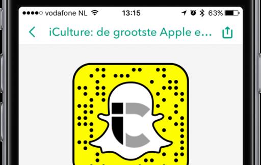 Snapcode van iCulture in Snapchat.