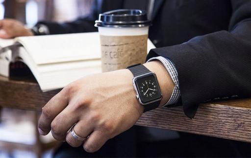 Apple Watch met koffie