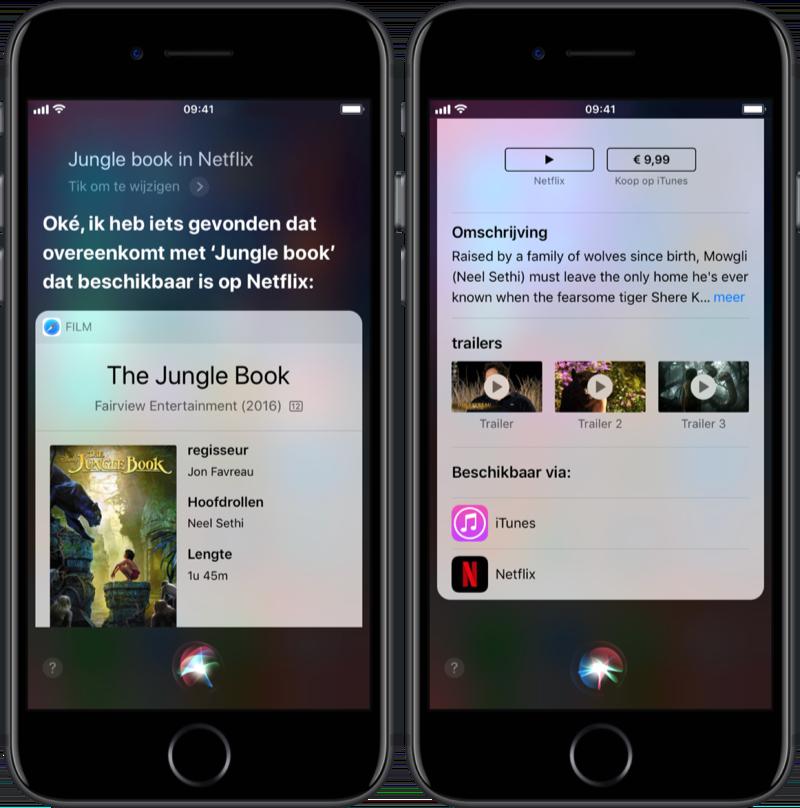 Films starten op Netflix via Siri.