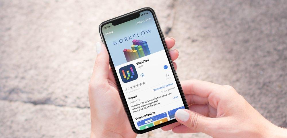 Workflow handleiding voor iPhone