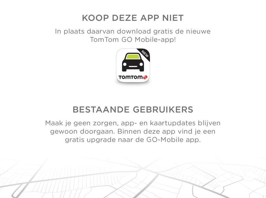 TomTom oude navigatie-app.