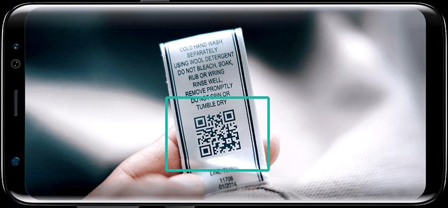 Bixby: zoeken met QR-code