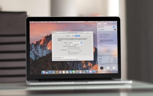 Night Shift op de Mac.