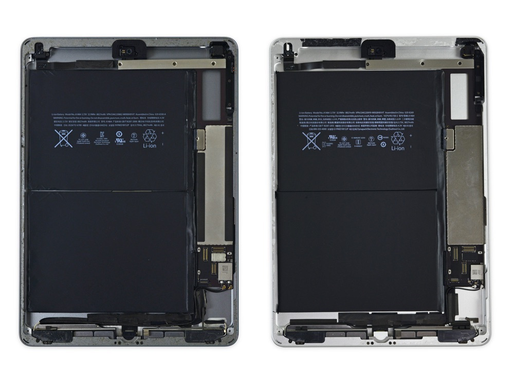 Teardown iPad 2017 en iPad Air.