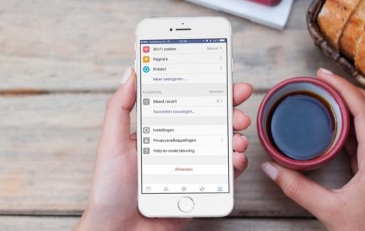 Tijdlijn met meest recente berichten in Facebook.