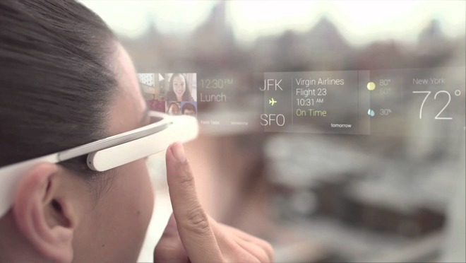 Google Glass-projectie