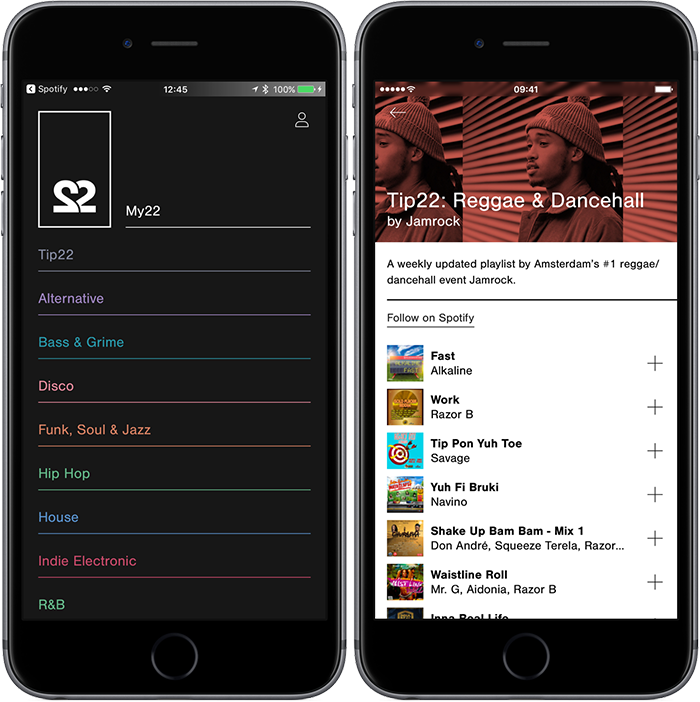 22tracks iPhone-app
