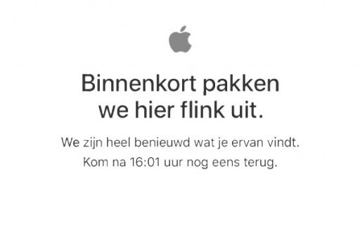 Apple Store offline voor rode iPhone 7 en nieuwe iPad.