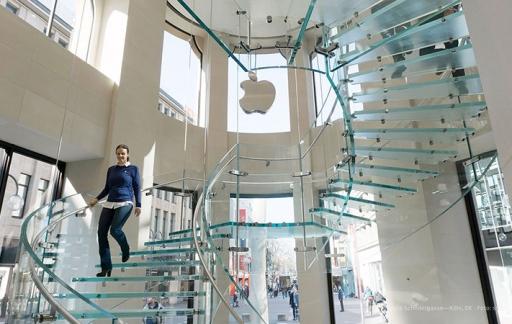 Apple Store Keulen: glazen trap
