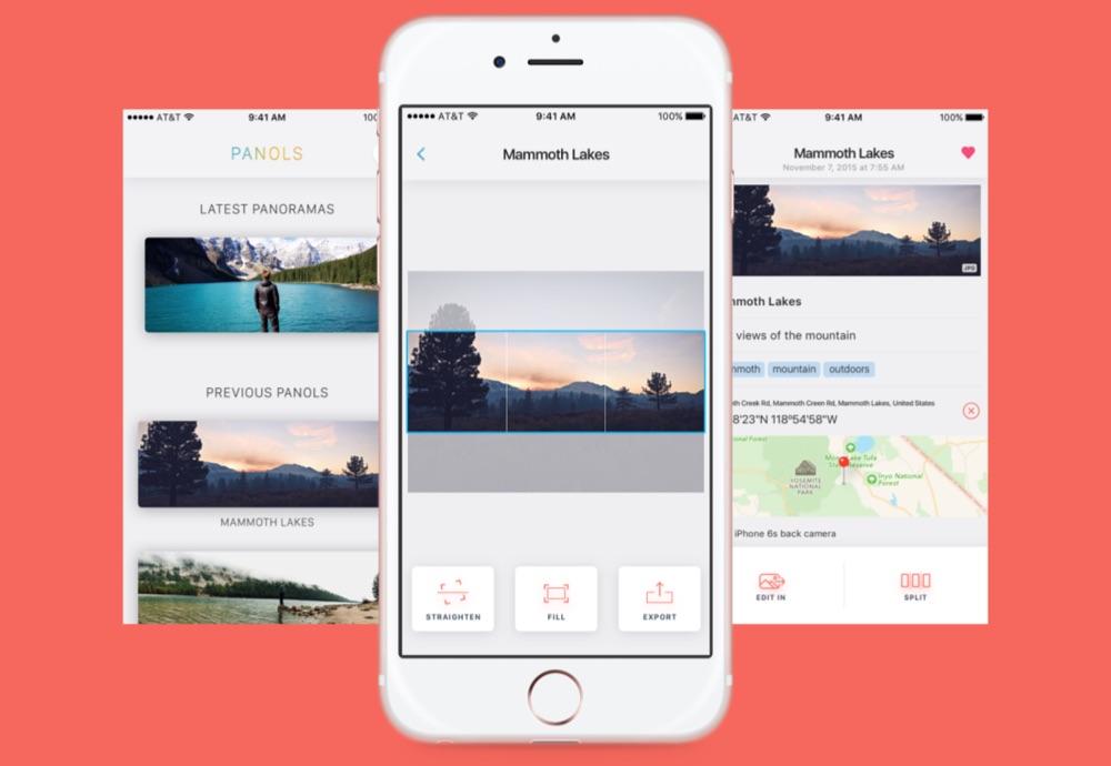 Panols voor panoramafoto's op Instagram.