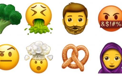 Nieuwe emoji voor 2017.