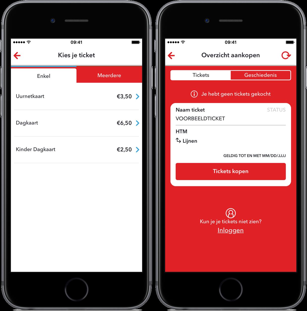 Digitale kaartjes kopen met HTM Ticket App