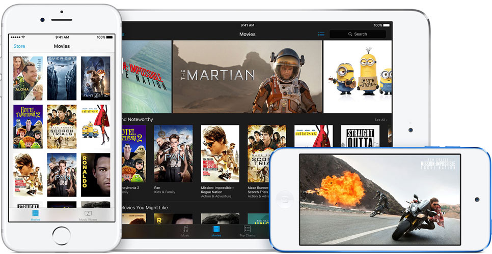 Films huren op iPhone, iPad en iPod touch