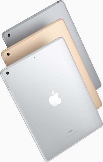 Achterkant van de nieuwe iPad met 9,7-inch scherm.