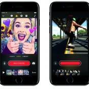 Clips-app op de iPhone.