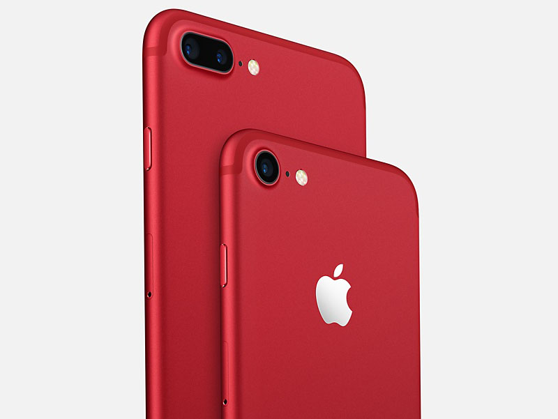 iPhone 7 gallery in rood