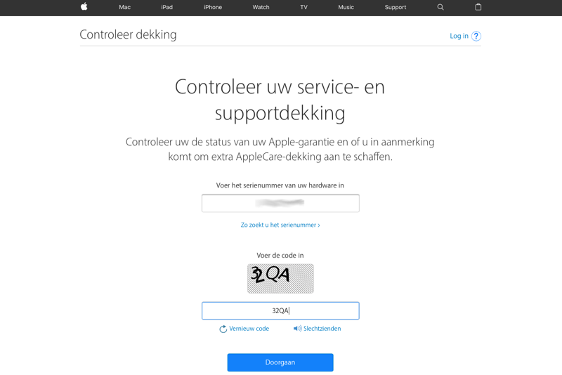 AppleCare-dekking iPhone
