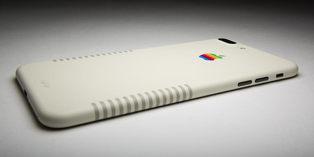 iPhone 7 Plus met Macintosh look.