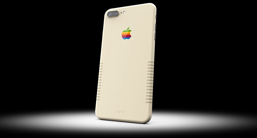 iPhone 7 Plus van ColorWare met Macintosh skin.