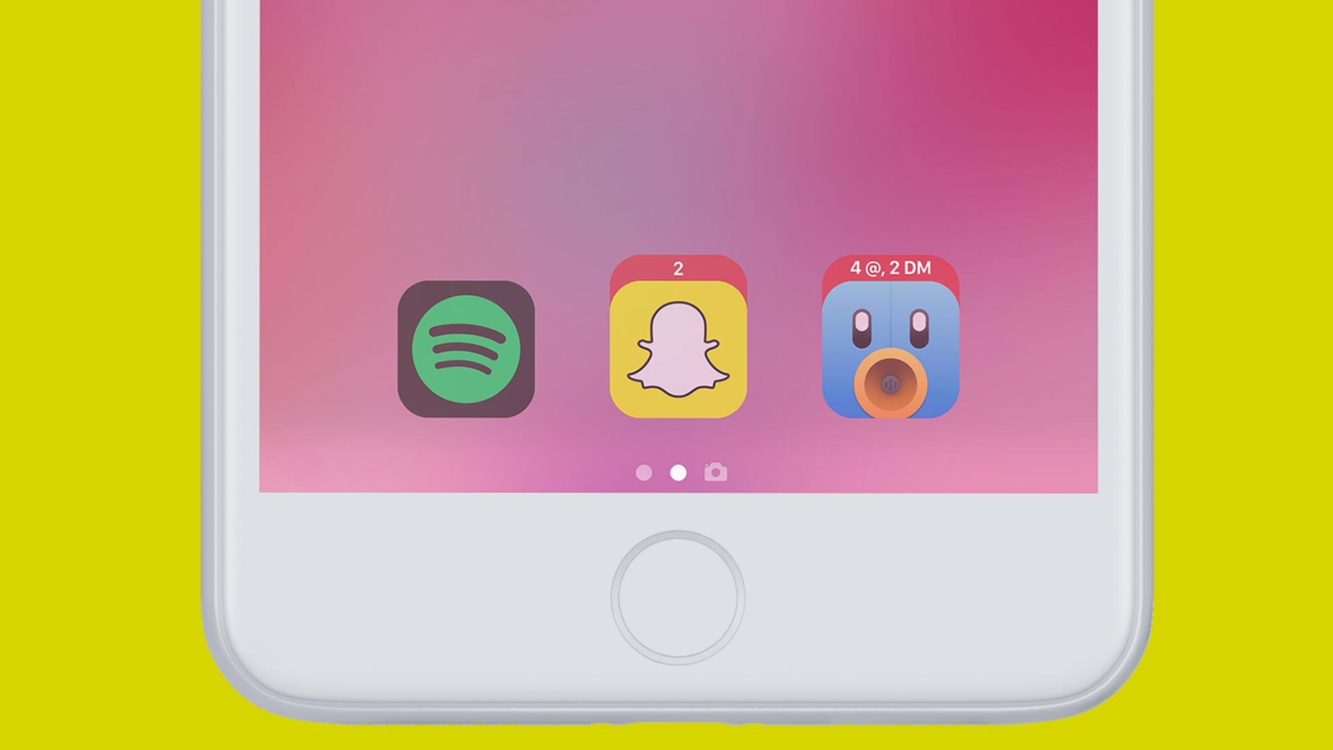 iOS 11 concept: toegangsscherm laat apps meteen openen