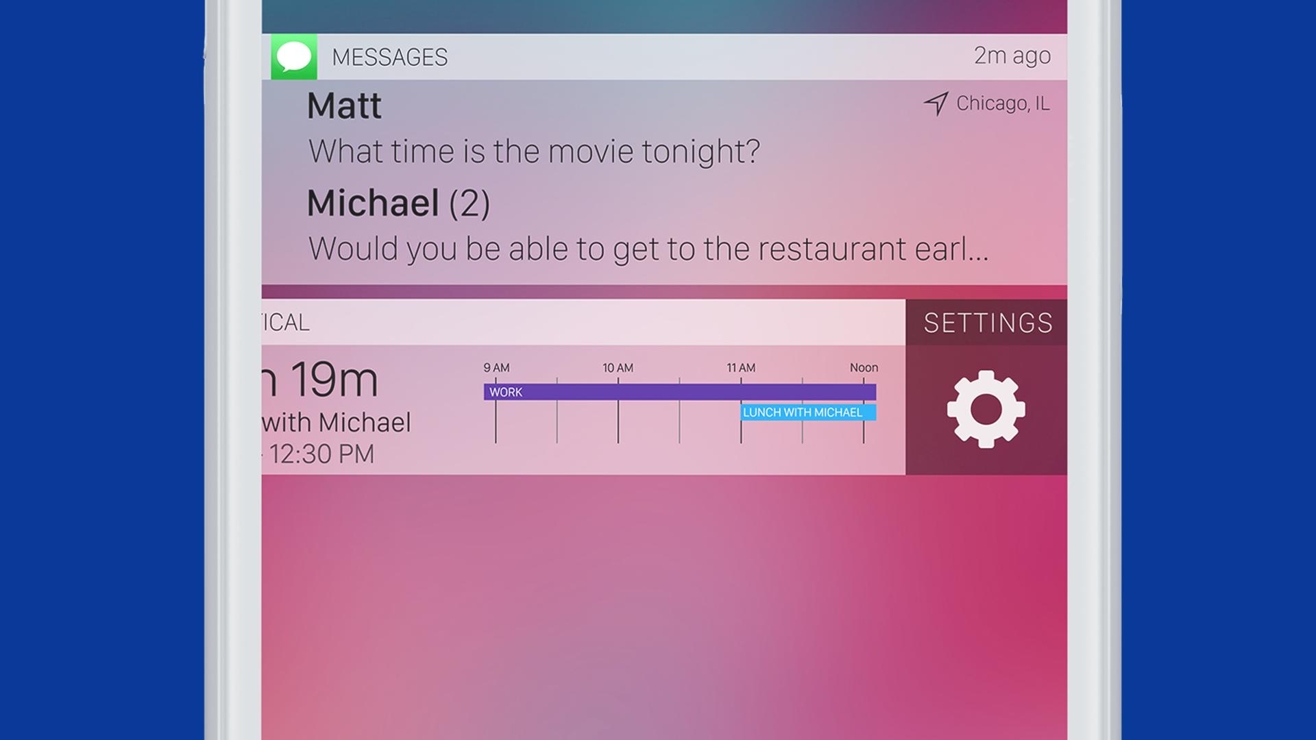 iOS 11 concept: slimme notificaties op toegangsscherm