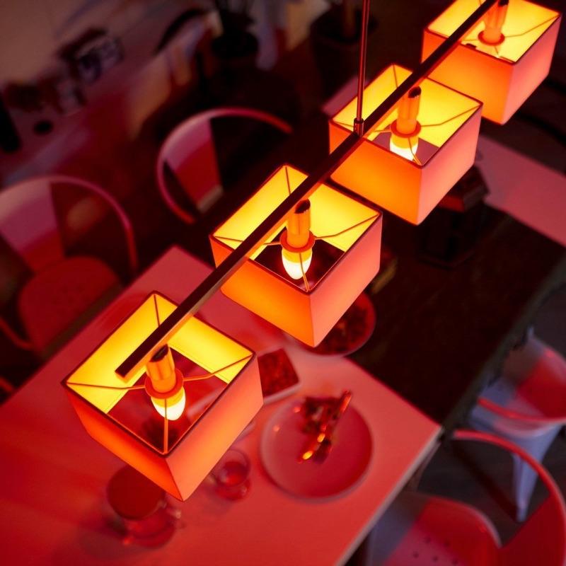 Philips Hue E14-lampen.