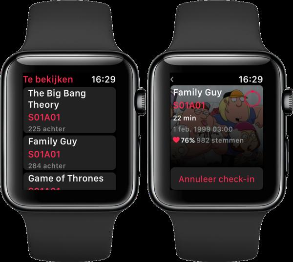 Serist op de Apple Watch.