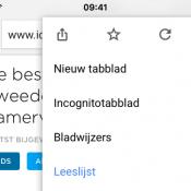 Google Chrome voor iOS heeft Leeslijst voor opslaan artikelen