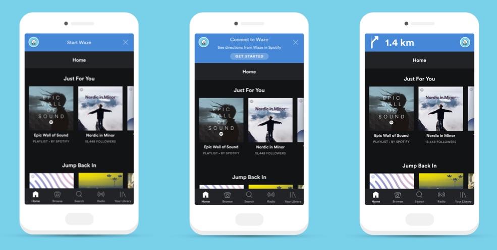Waze en Spotify integratie.