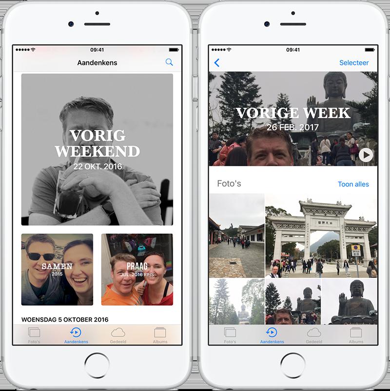 Aandenkens voor iOS maakt automatisch fotoalbums