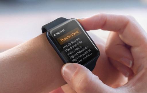 Theaterstand op de Apple Watch.
