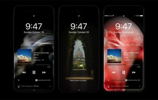 iPhone 8 met donkere modus