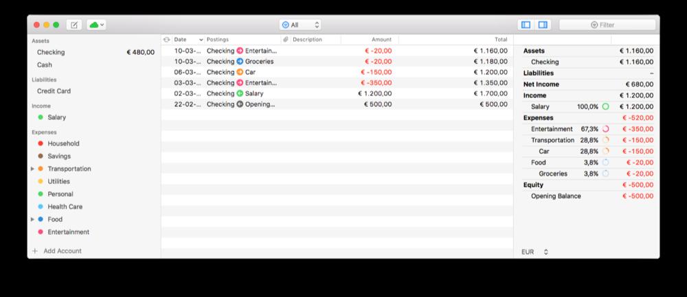 Finances 2 voor Mac.