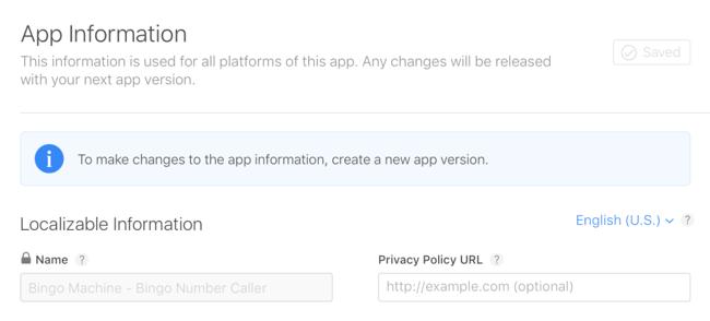 App-versie nieuw