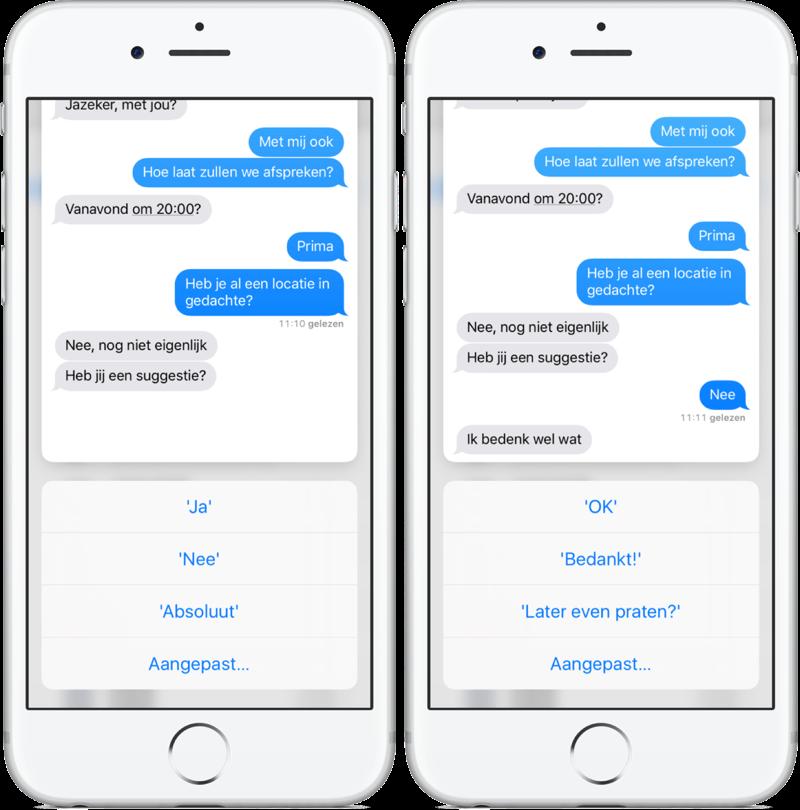 Snel reageren in iMessage met 3D Touch.