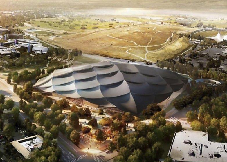 Google Campus vanuit de lucht
