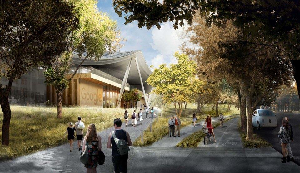 Google Campus ziet eruit als een tent