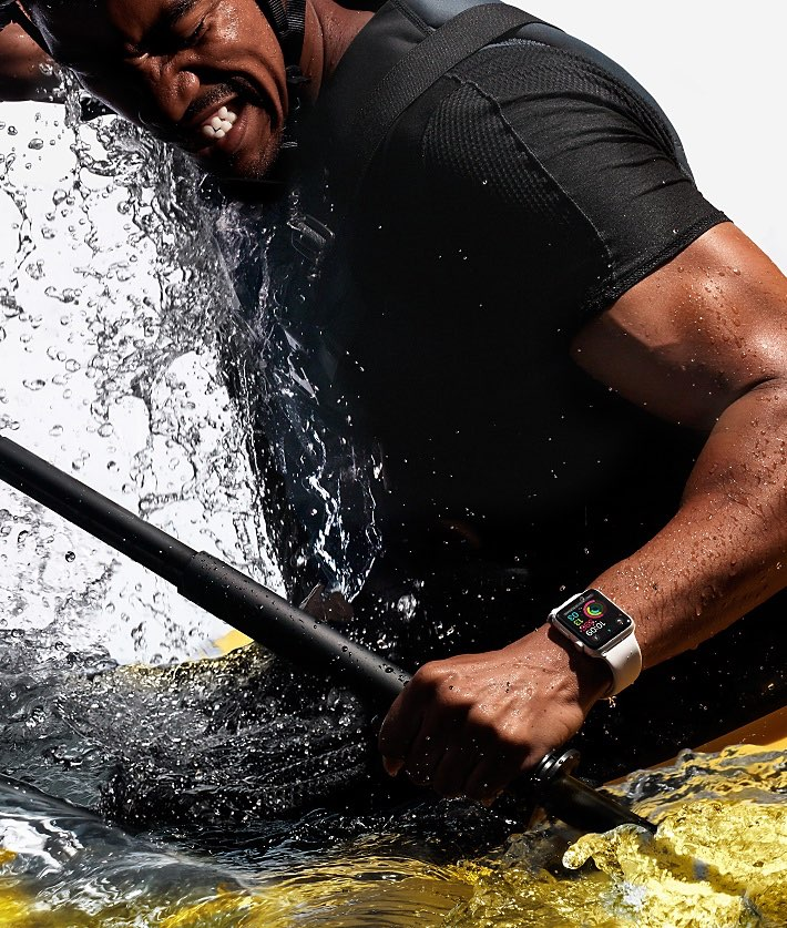 Apple Watch kayakken