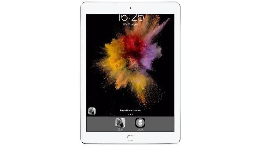 iOS 11 concept met meerdere gebruikers.