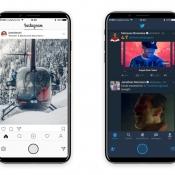 iPhone 8-concept laat zien hoe het functiepaneel in apps werkt